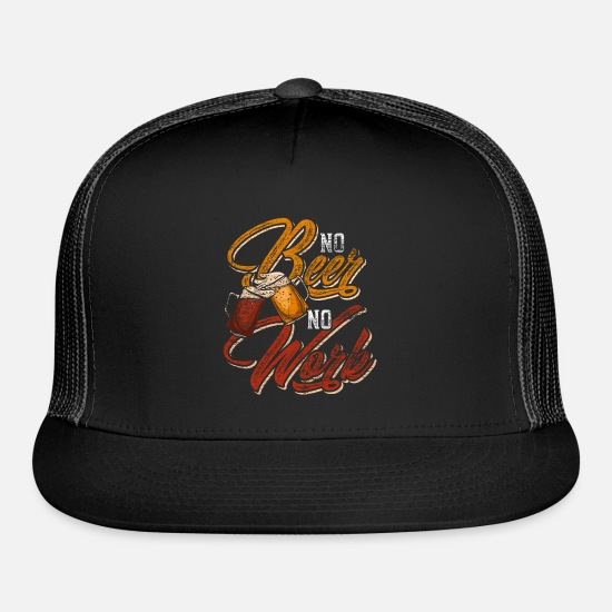 Alcohol Caps - Beer - Trucker Cap black/black