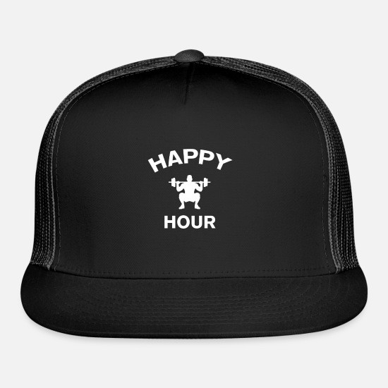 Hardcore Caps - Happy Hour - Trucker Cap black/black