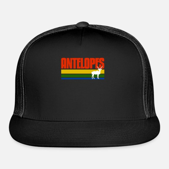 Animal Rights Activists Caps - Antelopes Retro T Shirt - Trucker Cap black/black