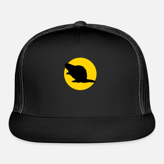 Animal Rights Activists Caps - beaver and moon - Trucker Cap black/black