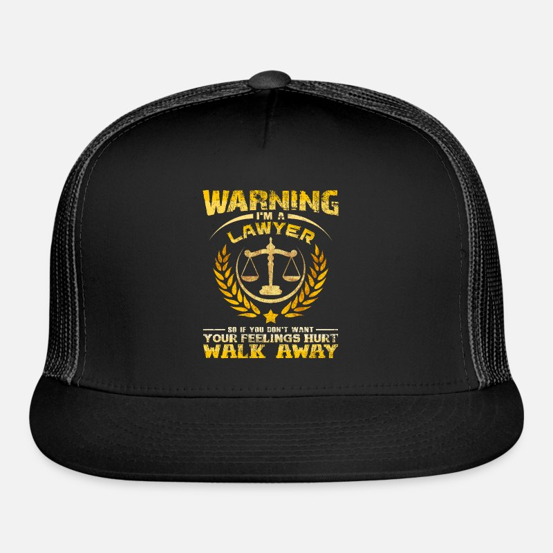 Warning Im A Lawyer Quotes Funny Sayings Court Trucker Cap Blackblack