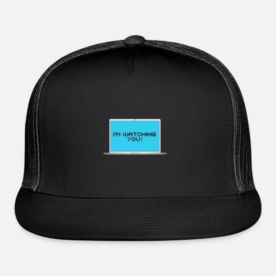 Safety Caps - Hacker I'm watching you - Trucker Cap black/black
