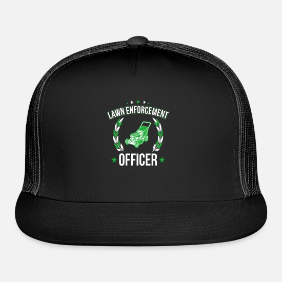 Gift Idea Caps - Lawn Mower Policeman - Trucker Cap black/black