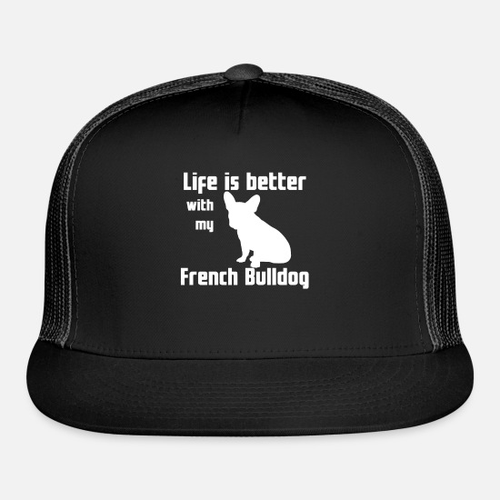 Lover Caps - Life Is Better With My French Bulldog - Trucker Cap black/black