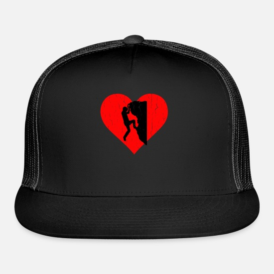 Boulder Caps - Escalade Heart - Trucker Cap black/black