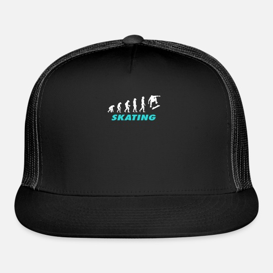 Skateboard Caps - Skating Team T Shirts - Trucker Cap black/black