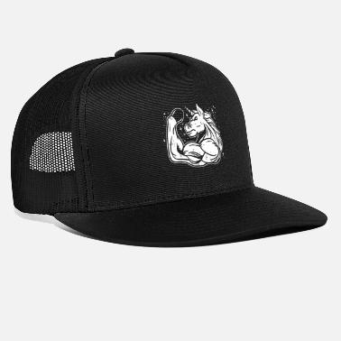 Gym Awesome Unicorn Muscle Workout Gym Fitness Gift - Trucker Cap