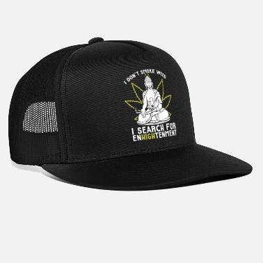 Buddha Funny Buddha Pot Smoker Search For EnHIGHtenment - Trucker Cap