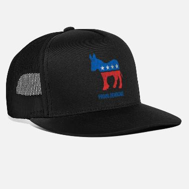 Party Vintage Proud Democrat - Trucker Cap