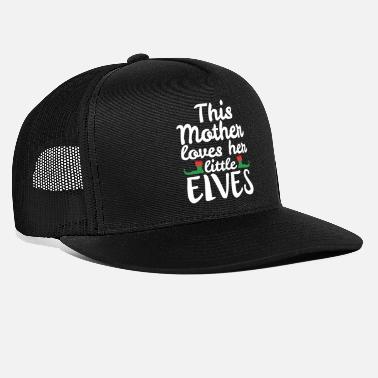 This Mother Loves Her Little Elves Christmas Elf - Trucker Cap