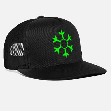 Snowflake Snowflake winter cold green - Trucker Cap