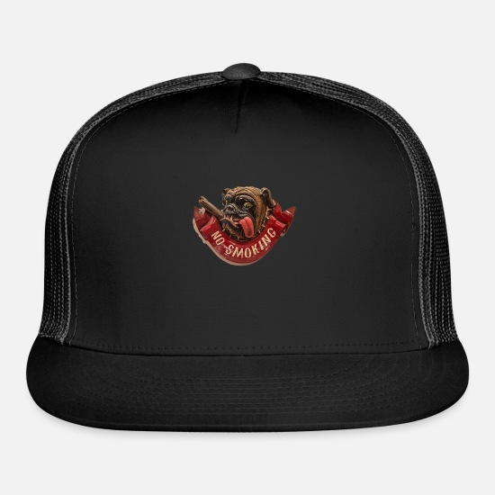 Smoking Caps - no smoking - Trucker Cap black/black
