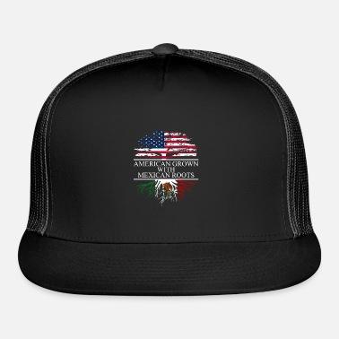 Riizm-Cap Mexcian Roots with American Grown Tree Kids Trucker Caps Black