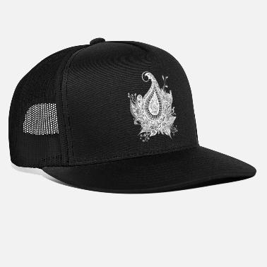 White-Ornamental - Trucker Cap