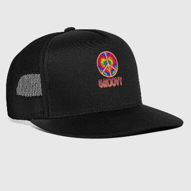 Disco Groovy Peace Sign Gift - Trucker Cap