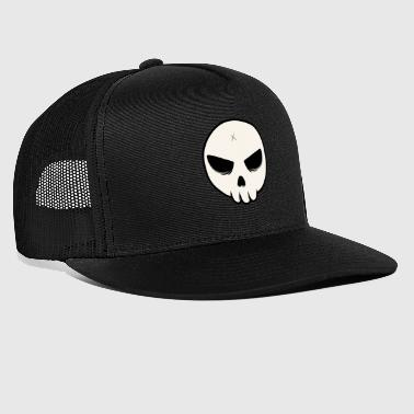Head Shot Skull Streetart Halloween cross bones - Trucker Cap