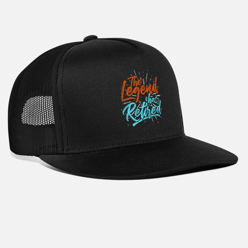 Retired Caps - Retired - Trucker Cap black/black