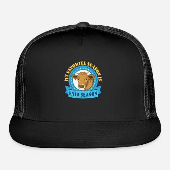 Hog Caps - My Favorite Season Is Fair Season - Trucker Cap black/black