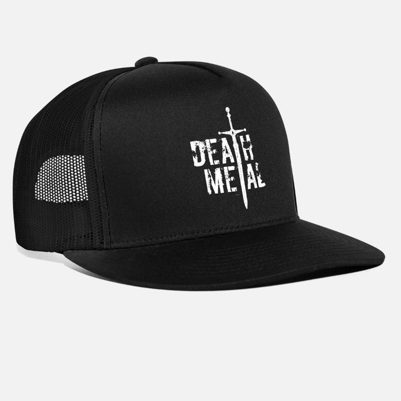 2565e96647c Heavy Caps - Death Metal - Trucker Cap black black