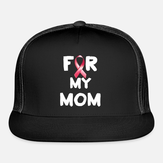 Cancer Caps - My Mom Breast Cancer - Trucker Cap black/black