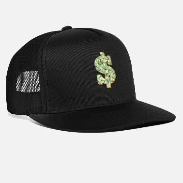 Dollar dollar sign money millionaire wealth rich - Trucker Cap