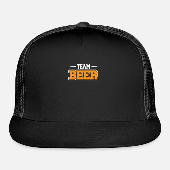 Beer Keg Caps - Team beer Artboard 20 copy 2 - Trucker Cap black/black