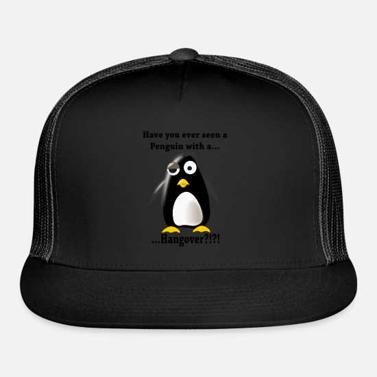 Gift Idea Caps - Hangover Pinguin - Trucker Cap black/black