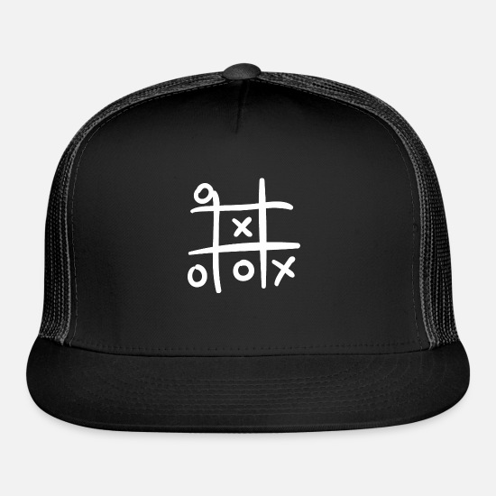 Play Caps - Tic tac toe - Trucker Cap black/black