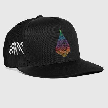 bean leaf colorful ornaments gift idea psychedelic - Trucker Cap