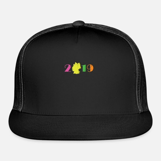 2019 Caps - 2019 New Year New Year New Year's Eve Gift Idea - Trucker Cap black/black