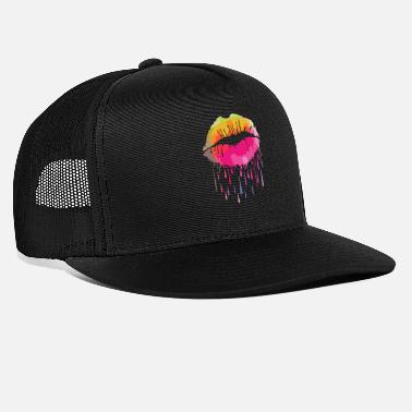 Lips Melting Kissing Lips - Trucker Cap