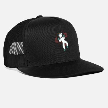 Weights Unicorn weightlifting gift idea fitness training - Trucker Cap