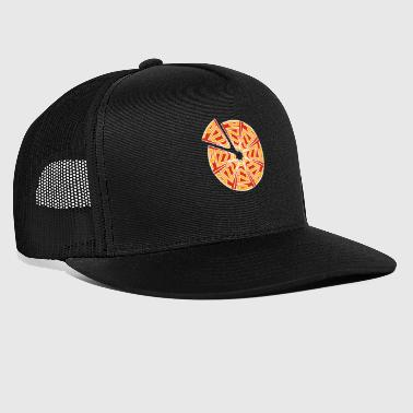Abstract pizza font - Trucker Cap