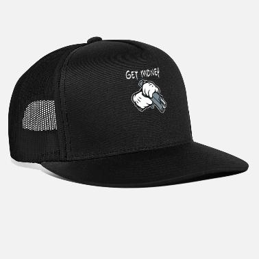 Gangster mickey mouse gangster get money - Trucker Cap