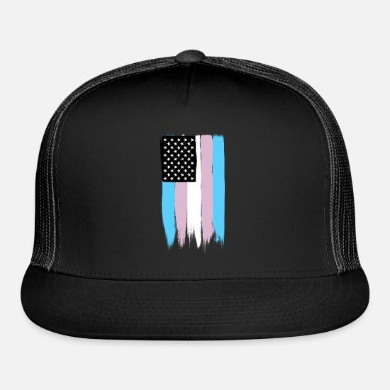 af9762a16 Transgender Pride Stars and Stripes Trucker Cap   Spreadshirt