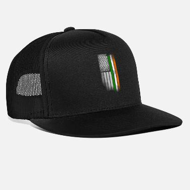 American Indian Indian American Flag - Trucker Cap