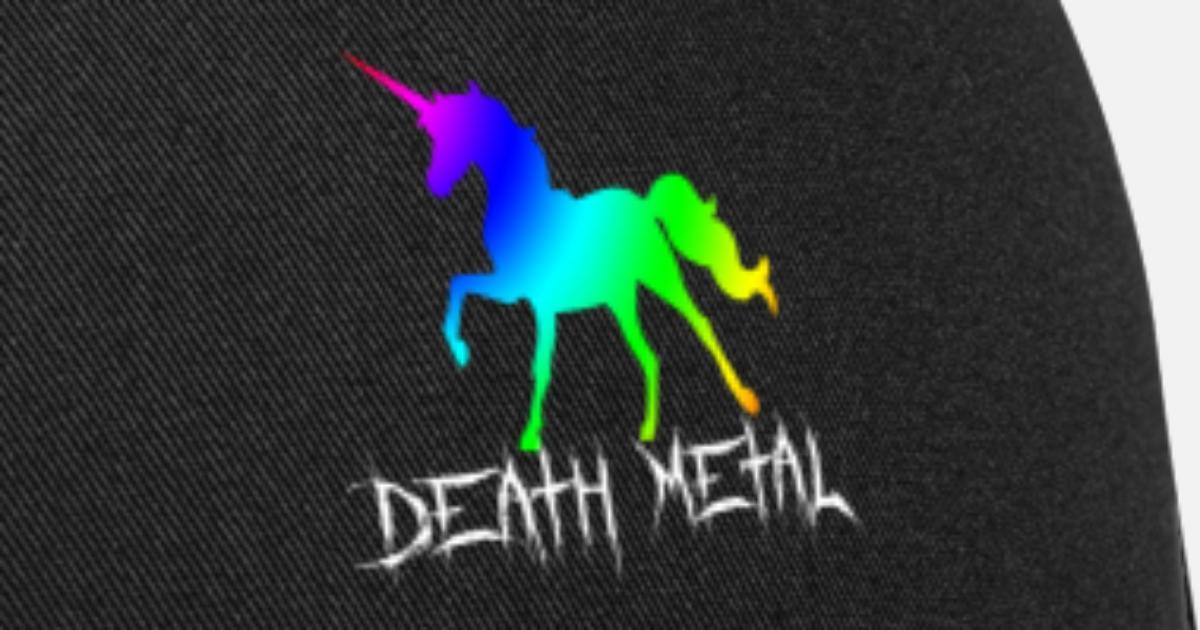 0d7bad1d Rainbow Unicorn Death Metal Trucker Cap | Spreadshirt