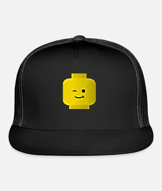 Birthday Cake Caps & Hats - Lego Guy - Trucker Cap black/black