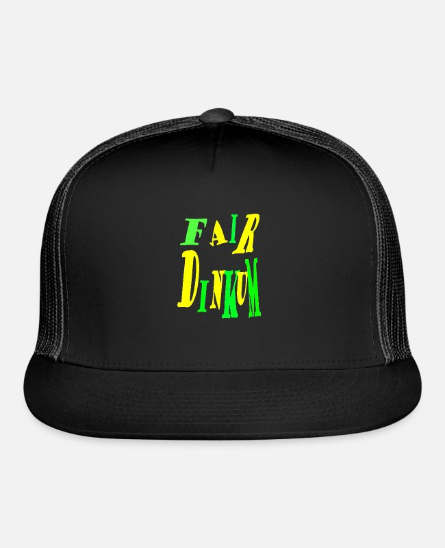 Fairy Tale Figure Caps & Hats - Fair Dinkum Power merch - Trucker Cap black/black