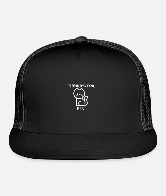 New Caps & Hats - THINKING FOR HER - Trucker Cap black/black