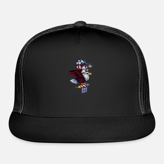 Bless You Caps - Dog Bless America - Trucker Cap black/black