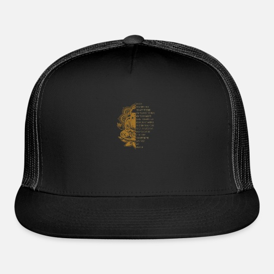 Buddhism Caps - Buddhism - Trucker Cap black/black