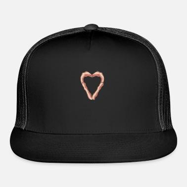 5348b6e05c92a Bacon Heart Love BBQ Breakfast Bacon Pig Gift Trucker Cap