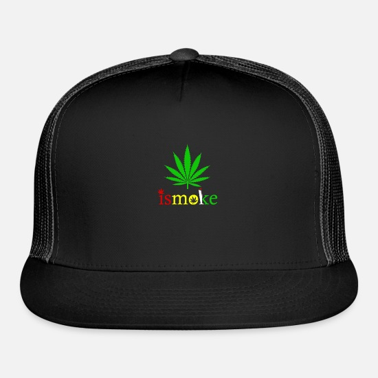 Smoking Caps - Is Smoke - Trucker Cap black/black