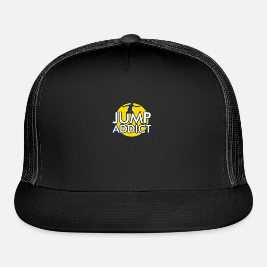 Addiction Caps - jump addict - Trucker Cap black/black