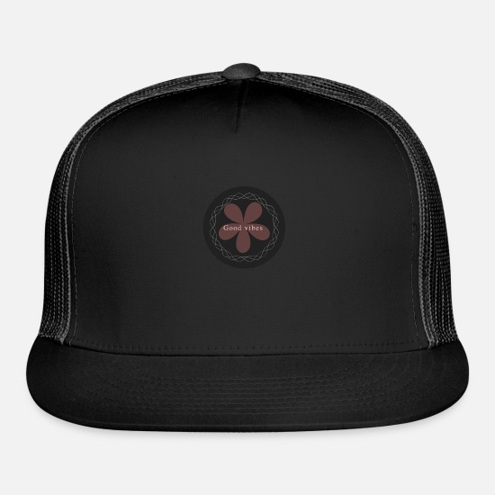 Gift Idea Caps - Good vibes - Trucker Cap black/black