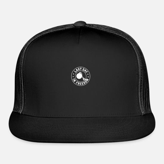 Bachelorette Party Caps - bachelor party - Trucker Cap black/black