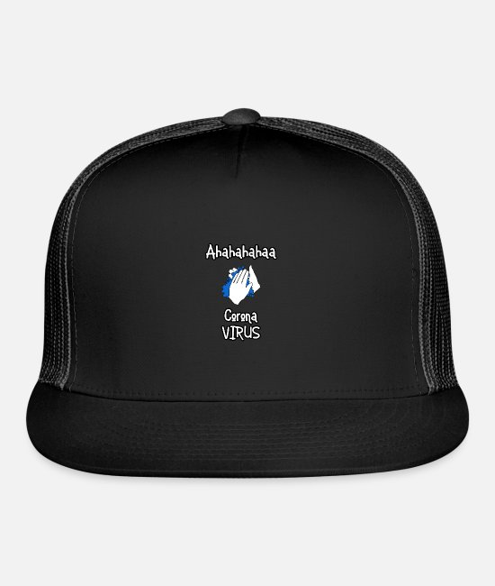 Virus Caps & Hats - Ahahaa Corona - Trucker Cap black/black