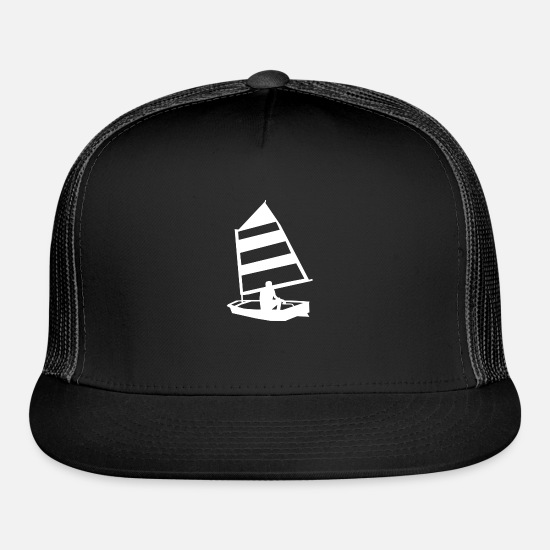 Dinghy Caps - Sailing - Trucker Cap black/black