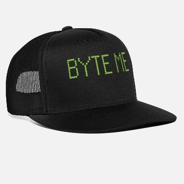 Byte Byte Me Funny Computer Science Pun Programming - Trucker Cap